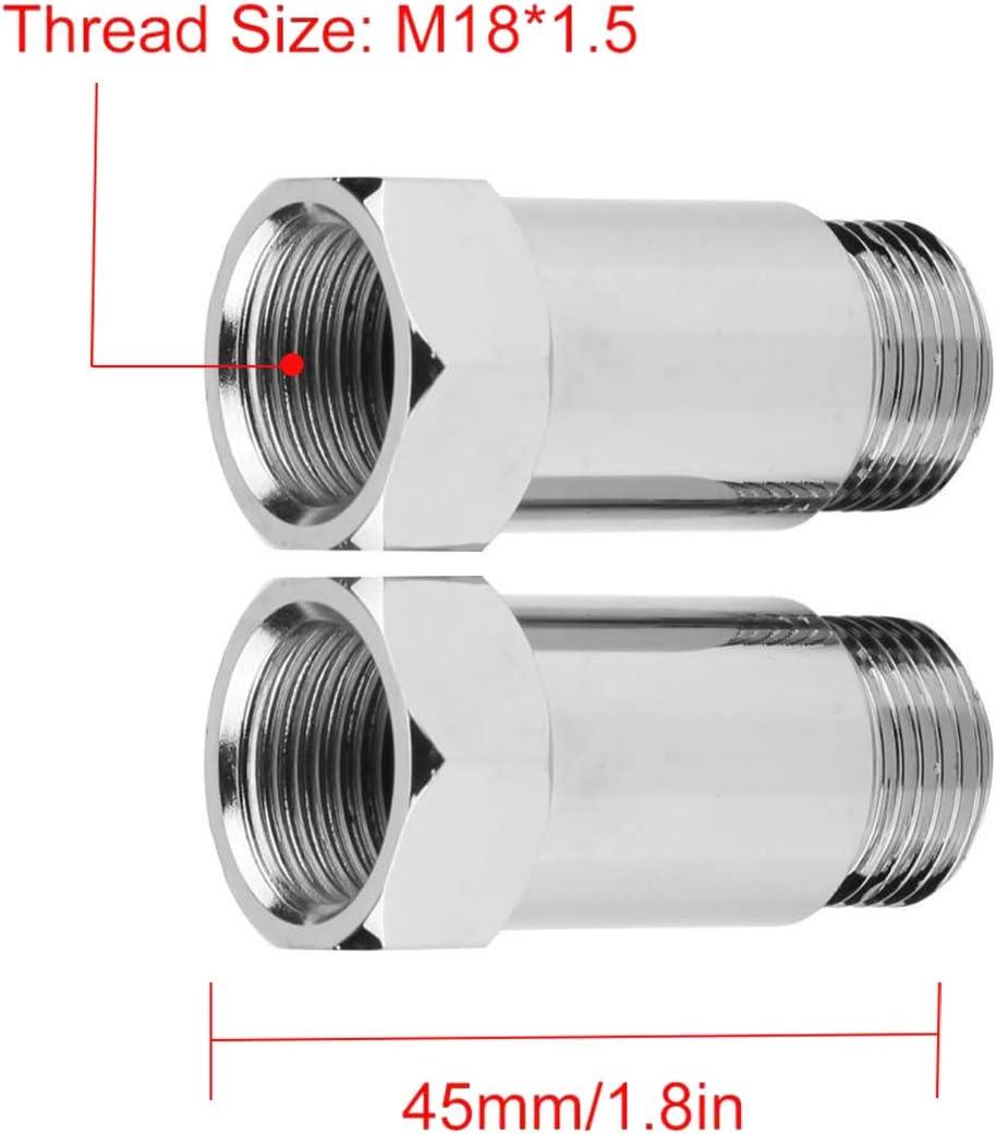DEDC Juego de 2 Adaptadores Extensores O2 para Sensor de Ox/ígeno Espaciador M18 x 1,5 Adecuado para La Mayor/ía de Los Autom/óviles 32mm