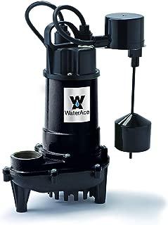 WaterAce WA50CSV Sump Pump, 1/2 HP, Black