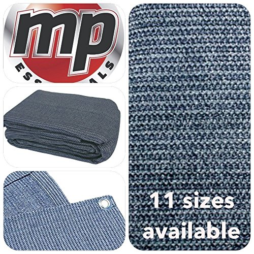MP Essentials Ademend & Weerbestendig Outdoor Grondzeil Tent & Luifel Tapijt 2.5 x 5m Blue & Grey