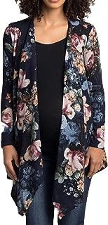 Women's Autumn Long Sleeve Floral Front Open Kimono Cardigans