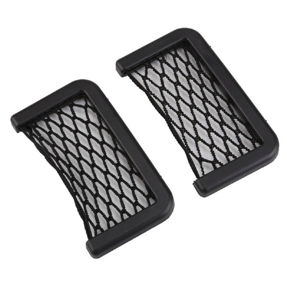 Vvciic Car Storage Bag Pocket Leather Net Bag Mesh Storage Car Organizer Auto Interior Accessories 7.9 * 5.5