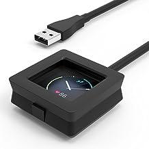 MoKo Fitbit Blaze Cargador - Accesorios de Reloj Base de Carga Reemplazo Charging Cradle Dock Adaptador con USB Charging Cable Charger para Fitbit Blaze Smart Fitness Watch, Negro