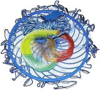 Qiyuezhuangshi Fishing Nets, Multicolored Monofilament Line Frisbee Hand Throwing Fishing Nets, Hand Throwing Nets American Style Easy to Throw Fishing Nets (4.2 Meters, 4.8 Meters, 5.4 Meters)