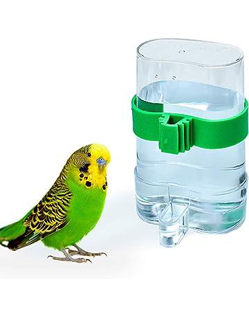Haorw casa doppia tazze con clip Feeder Bowl per mangime uccelli Pappagallo Gabbia