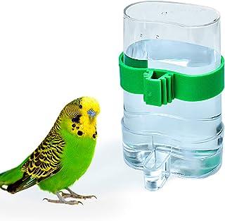 COCOCITY Suministros para pájaros para mascotas, dispensador de agua, dispositivo de alimentación automático para loros, p...