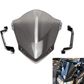 KEMIMOTO FZ 09 Windshield WindScreen + Bolts Screws Bracket For Yamaha FZ-09 FZ09 2014 2015 2016