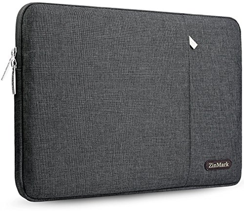 Zinmark Laptop Sleeve Case 11.6-12.9 Inch, Compatible MacBook Air 11.6-Inch, MacBook Pro 13 inch A1706/A1708, iPad Pro 12.9', Surface Laptop 2 13.5', Spill-Resistant Protective Sleeve, Dark Gray