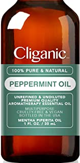 Cliganic 100% Pure Peppermint Essential Oil to Repel Mice Spiders (1oz / 30ml)   Perfect for Aromatherapy   Natural Mentha Piperita Plant   100% Satisfaction Guarantee
