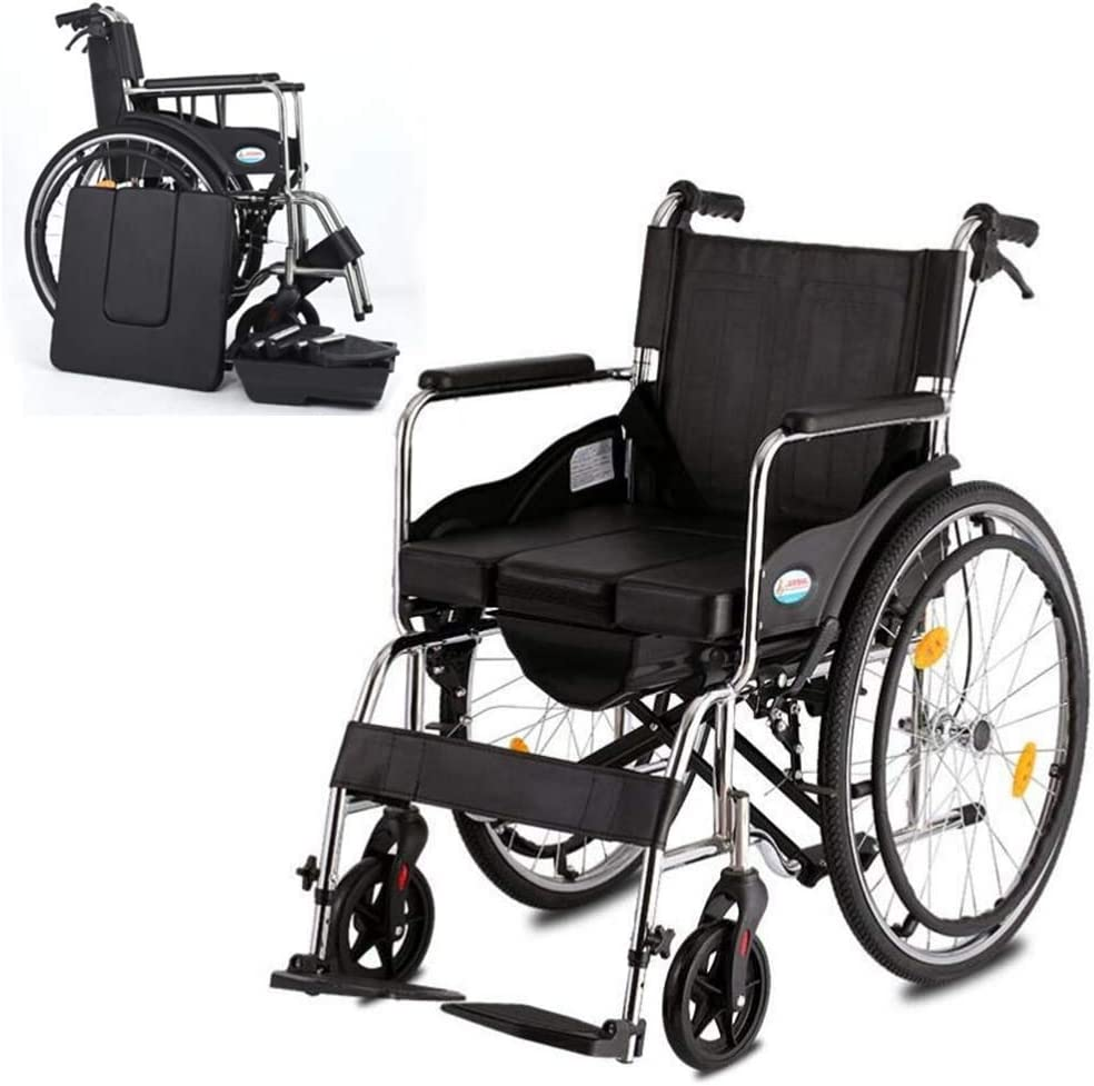 It is very popular HAOXJ1 Foldable Wheelchair Manual Wheelchair ...