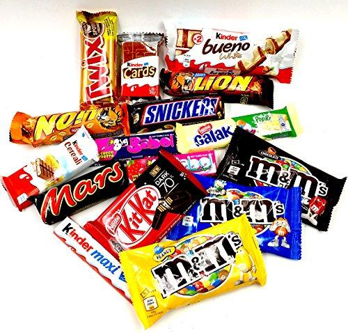 Mistery Box Confezione Assortita Snack Barrette Cioccolato Peanut Idea Regalo Compleanno M&m's Twix Kinder bueno Lion Mars Snickers Kit kat Oreo Chocolate Nestle Dolci Sweet sorpresa 12/15 pezzi