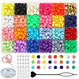 Arokimi Beads for Bracelets,Color Beads for Hair Braids,Making Jewelry Necklace