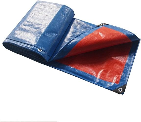 AJZXHE Bache, bache de Prougeection Solaire Anti-Pluie, bache extérieure de bache de Camion Anti-poussière et Coupe-Vent, Bleu + Orange -Tente