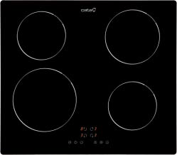 CATA IB 6304 BK (Integrado, con Placa de inducción, Negro, 1200 W, Alrededor, 16 cm), 2000 W, Vidrio, Acero Inoxidable