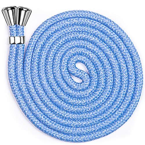 ONEFLOW Ersatzkordel für alle Handys | Handykette ohne Hülle - Stylisches Band zum Umhängen, frei verstellbar bis 155cm | Extrakordel in Hell-Blau Jeans