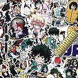 LZWNB My Hero Academia Maleta Pegatina portátil monopatín Izuku Midoriya Might Boku No Hero Academia Anime Personaje Pegatina F3 73 Piezas
