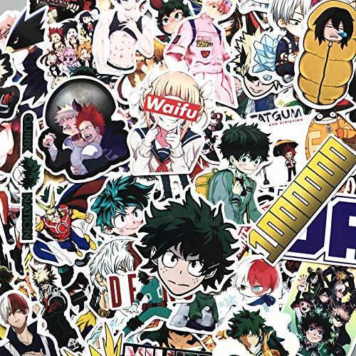 Pegatinas de maleta My Hero Academia, monopatín para portátil, podría Boku No Hero Academia, calcomanías de personajes de anime, 100 piezas