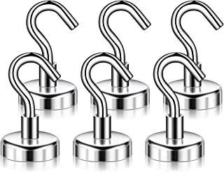 Aptgaga Strong Heavy Duty Magnetic Hooks, Strong Neodymium Magnet Hook for Home, Kitchen, Workplace, Office and Garage, Hold up to 40 Pounds - 6 Pack