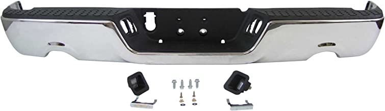 09-13 DODGE PICKUP RAM 1500 REAR STEP BUMPER CHR ASSY W/O SENSOR W/ DUAL EXHAUST