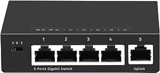 محول شبكة جيجابت من كوفي 5 منافذ صغير 10/10/10/1000 ميجابايت/ثانية سريع لشبكة الإنترنت RJ45 محور LAN كامل أو نصف مزدوج