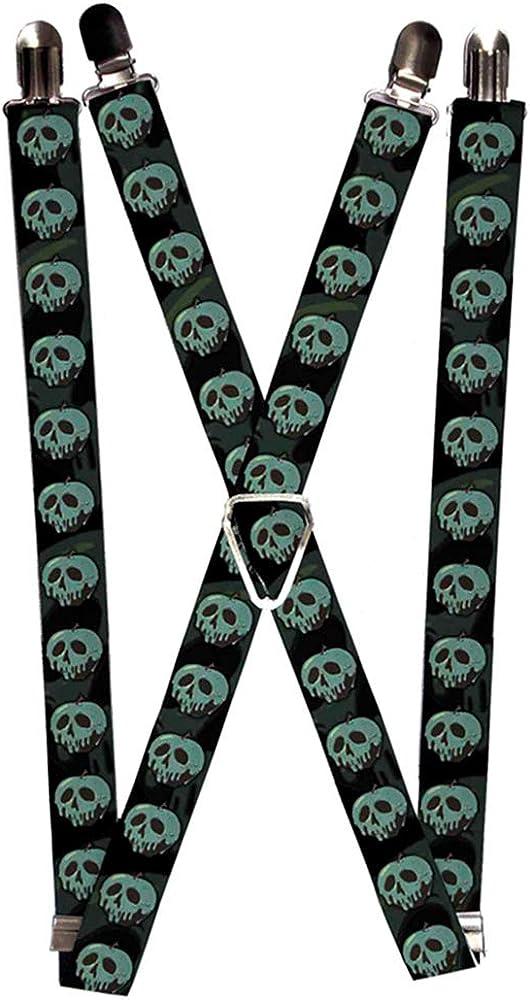 Buckle-Down Suspenders-Poisoned Apple Black/Greens