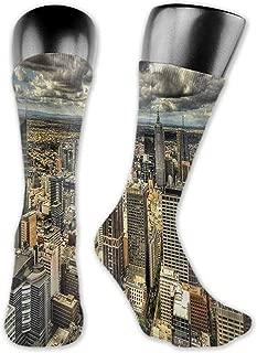 Funny Socks For Male Urban,Melbourne Cityscape Modern Australia Architecture Buildings Metropolis Dramatic Sky,Multicolor,socks women low cut no show