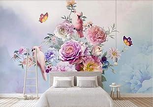 Muurschildering Behang 3D Muur Art Woonkamer Slaapkamer Roze Rose - Foto Art Print Natuur Landschap Cinema Muurschildering...