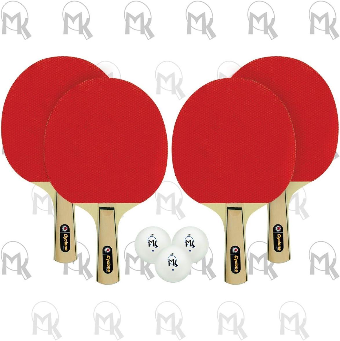 Martin Kilpatrick Cyclone Shakehand Table Tennis 4-Player Set Se