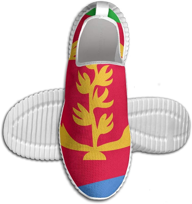 Flagg of of of Eritrea 2018 Style Printed ljusljus Andable springaning skor skor skor Mans Sports gående skor  försäljningsstället