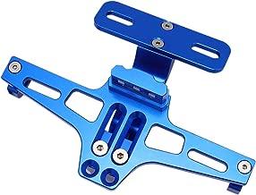 GDAUTO Motorcycle License Plate Bracket Holder (Blue) with LED Tail Light Universal Fender Eliminator Kit 6 LEDs Adjustable for Honda KTM Suzuki Yamaha Ducati