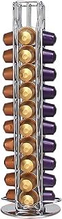 Supports pour Capsules de Café Nespresso, Tiroir de Rangement de Dosettes de Café pour 40 Capsules, 360 Degrés Rotable Por...