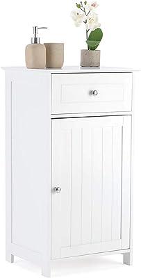 BOJU Bathroom Cabinet Set Floor Standing Bedroom Unit Storage Beside Cabinet with Drawer Kitchen Cupboard Wood Slim