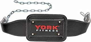 York Fitness York Dipping Belt with Chain Unisex Adult Fitness Accessory Black