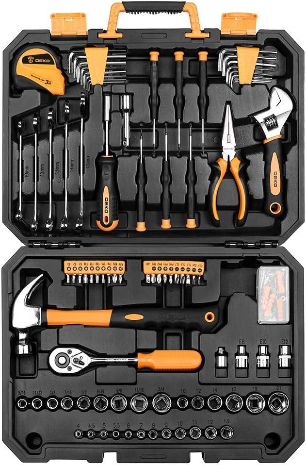 1064 opinioni per Set di utensili da 128 pezzi- Kits di attrezzi per uso domestico generico, set