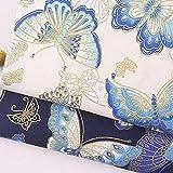 CHZIAMDE 1x Motif Papillon Coton Tissu Imprimé Style Japonais Tissus au Metres Matériel DIY Couture pour Vêtements Nappe Rideau Patchwork Artisanats Tissu a Coudre Bricolage 50 * 50cm