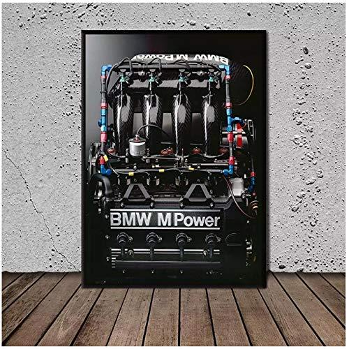 SDGW Home Motor S14 BMW M3 E30 Wandkunst Leinwand Malerei Poster Und Drucke Hotel Bar Cafe Wohnzimmer Home Decoration-60X80Cm No Frame