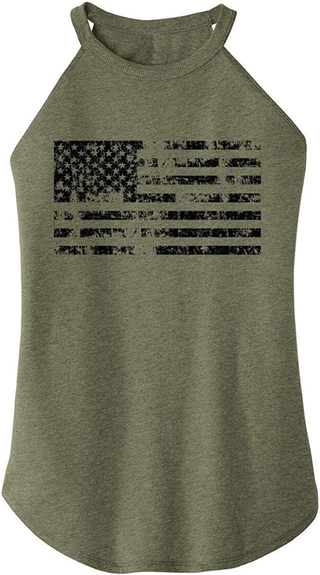 Comical Shirt Ladies Distressed American Max 58% OFF Flag July Columbus Mall Patriotic 4th