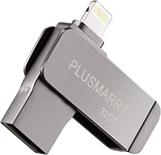 USBメモリ 32GB フラッシュドライブ iPhone/PC対応 パスワード保護 回転式容量不足解消OTG機能 超高速 日本語取扱説明書付き 錆色