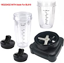 new style extractor blade with 18oz 24oz cup and spout lid for Ninja Professional 72oz Countertop Blender Ninja Professional 1000W Blender BL610 30/BL610 BRN 30