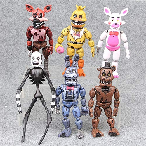 hkp Action & Toy Figures - 6pcs/Set at Freddy's Five Nights PVC Action Figure 17cm Bonnie Foxy Freddy Toys 5 Fazbear Bear Doll Baby Toys 1 PCs