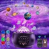 Lampada Proiettore a Stelle Stellare- Sirecal Ocean Wave Cielo stellato Spazio luci a led con 10 pianeti & Bluetooth&Timer &Telecomando per bambini Arredamento camera da letto per adulti (2021)