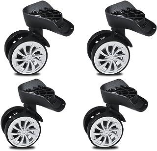 Ruedas giratorias de goma de 55 mm de alta carga, ruedas giratorias para muebles,