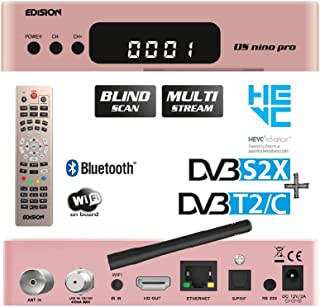 Edision OS Nino Pro Full HD Linux E2 Combo Ricevitore H.265/HEVC (1 X DVB-S2, x, 1 X DVB-T2/C)