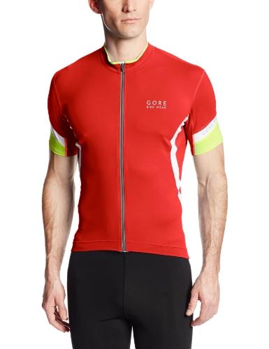 GORE WEAR Power 2.0 Maillot de Ciclismo, Hombre, Multicolor (Red/White), S