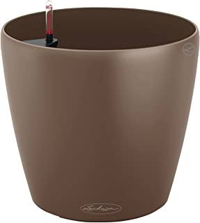 Lechuza Colour Classico 28cm Smooth Nutmeg Self Watering Traditional Round Planter Pot