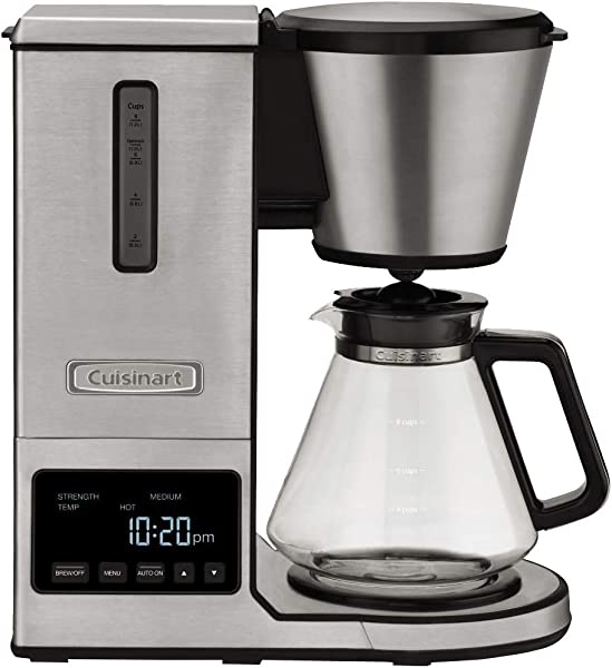 Cuisinart CPO 800 Pour Over Coffee Brewer Glass Carafe Clear
