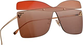 Fendi FF 0399/S Sunglasses Gold w/Red Opal Peach Gradient Lens 99mm G63HA FF0399S 0399S FF0399/S