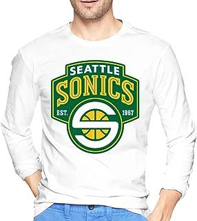 Seattle Supersonics Mens Classic Long Sleeve Shirts
