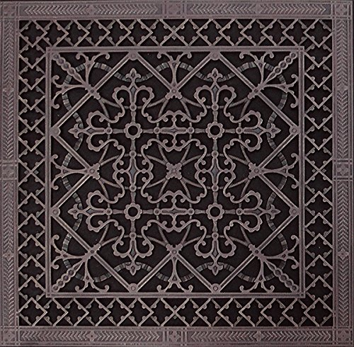 Decorative Grille, Vent Cover, or Return Register. Made of Urethane Resin to fit Over a 20'x20' Duct or Opening. Total Size of Vent is 22'x22'x3/8', for Wall and Ceiling grilles (not for Floor use).