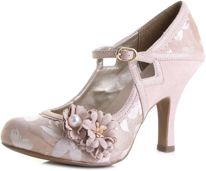 Ruby Shoo Damen Pumps Yasmin Vintage Riemchen High Heels Geschlossen  | Ausgezeichnetes Preis