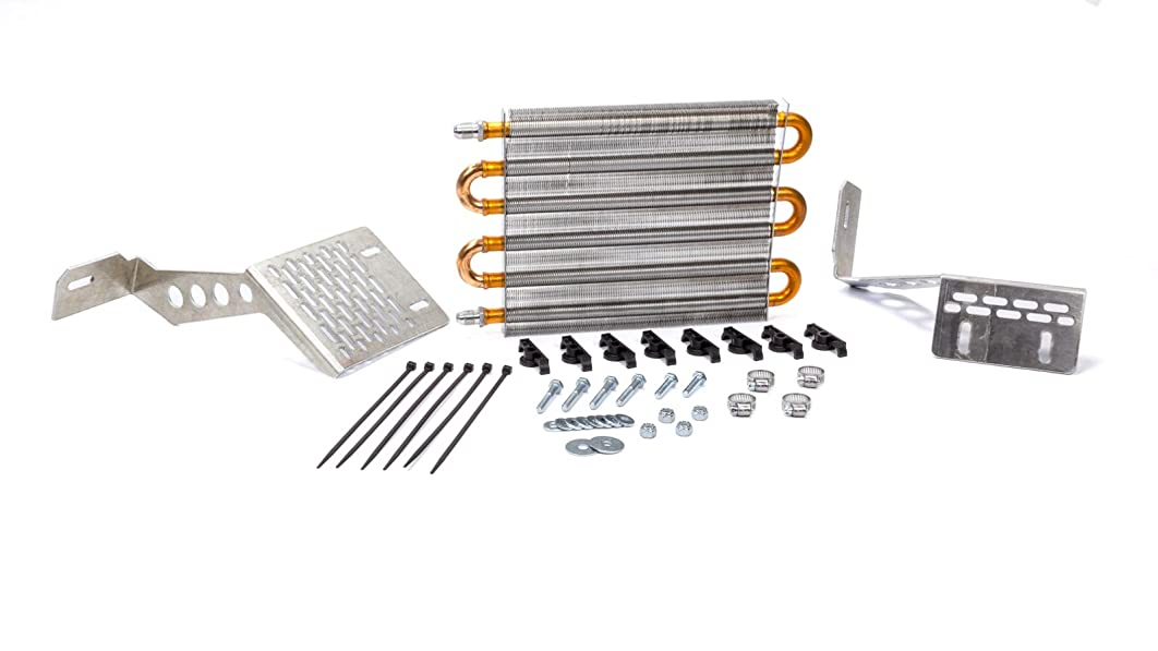 Flex-a-lite 41166Fox Direct-fit Translife Transmission Oil Cooler with -6 AN Fittings for Ford Mustang